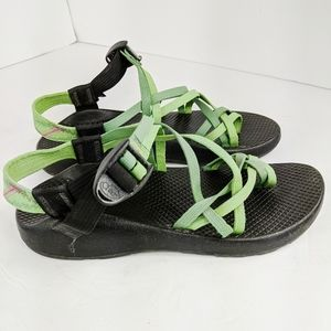Chaco Womens ZX2 Size 8 Sport Sandals Green